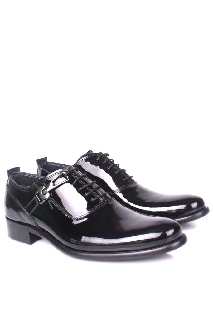 Fitbas 801 020 Erkek Siyah Rugan Klasik Büyük & Küçük Numara Ayakkabı