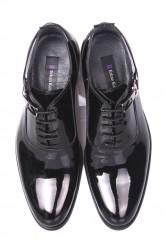 Fitbas 801 020 Erkek Siyah Rugan Klasik Büyük & Küçük Numara Ayakkabı - Thumbnail