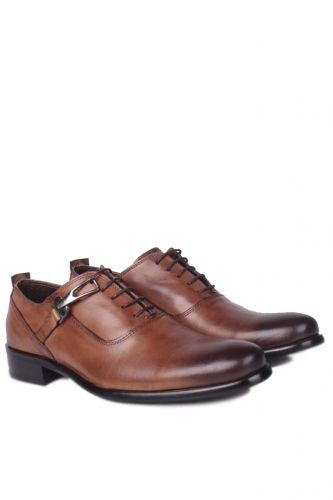 Fitbas - Erkan Kaban 801 167 Men Taba Genuine Leather Classical Shoes (1)