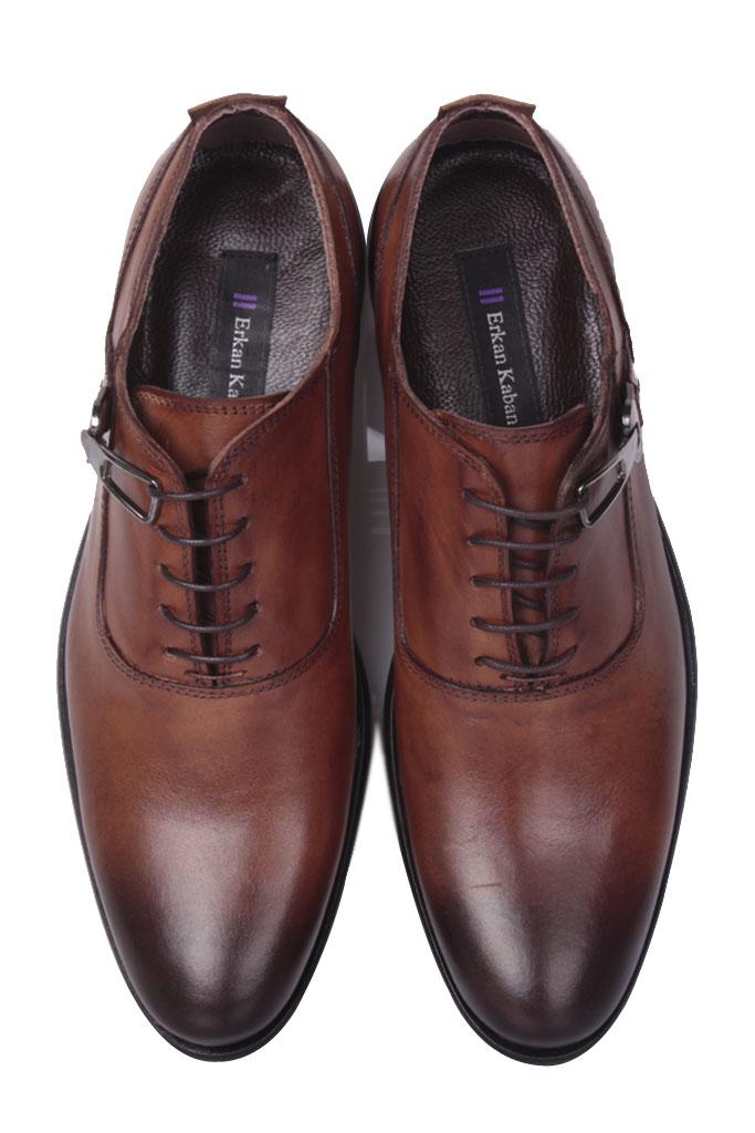 Erkan Kaban 801 167 Erkek Taba Deri Klasik Büyük & Küçük Numara Ayakkabı