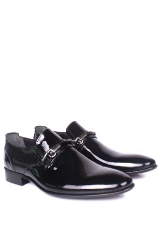 Erkan Kaban - Erkan Kaban 956 020 Erkek Siyah Rugan Klasik Büyük & Küçük Numara Ayakkabı (1)