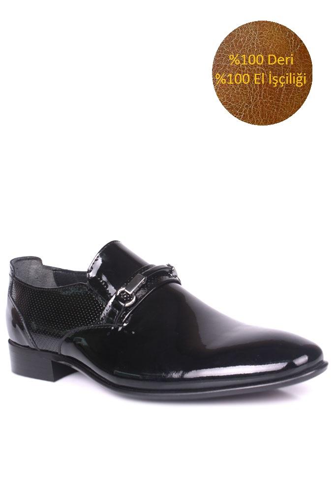 Fitbas 956 020 Erkek Siyah Rugan Klasik Büyük & Küçük Numara Ayakkabı