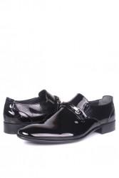 Fitbas 956 020 Erkek Siyah Rugan Klasik Büyük & Küçük Numara Ayakkabı - Thumbnail