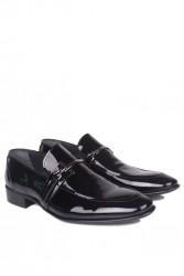 Erkan Kaban 972 020 Erkek Siyah Rugan Klasik Ayakkabı - Thumbnail