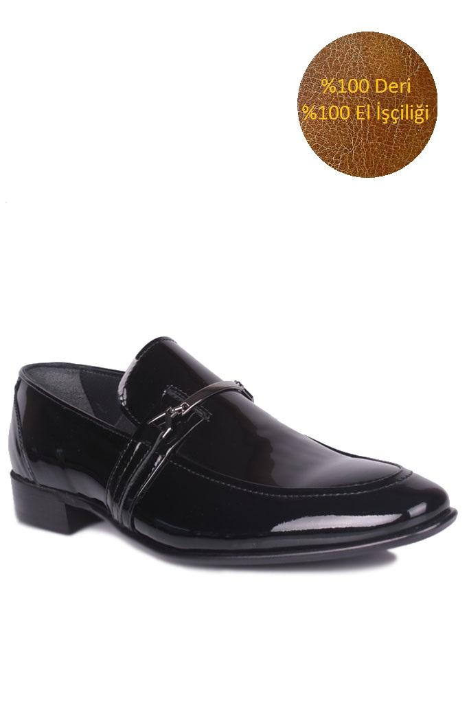 Fitbas 972 020 Erkek Siyah Rugan Klasik Büyük & Küçük Numara Ayakkabı