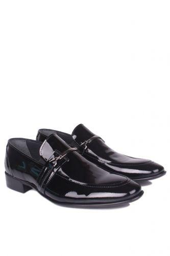 Fitbas - Fitbas 972 020 Erkek Siyah Rugan Klasik Büyük & Küçük Numara Ayakkabı (1)