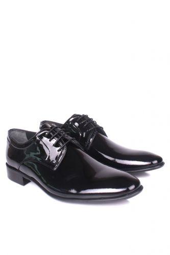 36 37 38 39 46 48 49 Küçük Büyük Numara Erkek Ayak - Erkan Kaban 979 020 Erkek Siyah Rugan Klasik Ayakkabı (1)