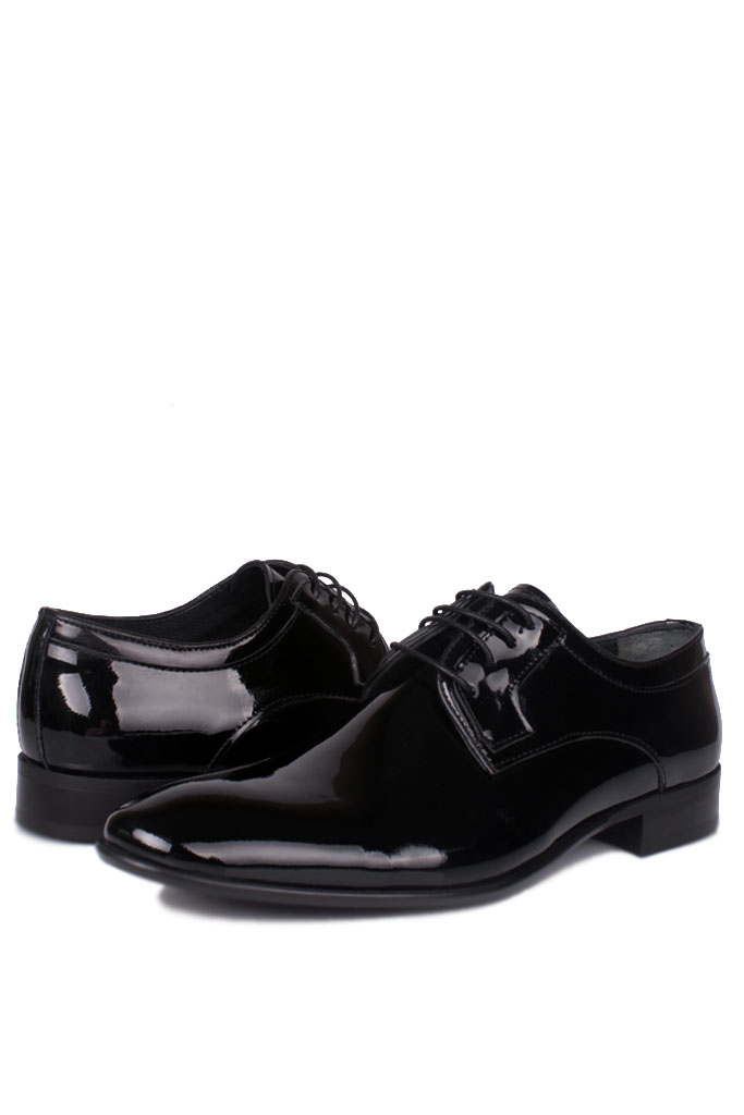 Erkan Kaban 979 020 Erkek Siyah Rugan Klasik Ayakkabı