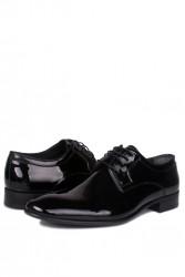 Erkan Kaban 979 020 Erkek Siyah Rugan Klasik Ayakkabı - Thumbnail