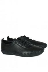 Erkan Kaban 625040 014 Kadın Siyah Deri Günlük Ayakkabı - Thumbnail