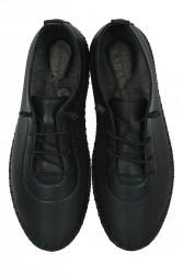 Fitbas 625040 014 Kadın Siyah Deri Günlük Büyük Numara Ayakkabı - Thumbnail