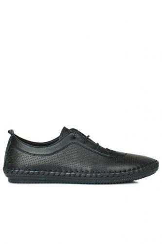 Fitbas - Fitbas 625040 014 Kadın Siyah Deri Günlük Büyük Numara Ayakkabı (1)