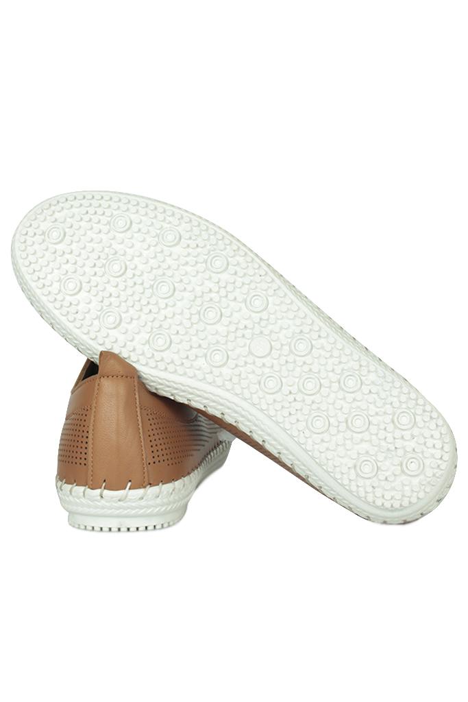 Fitbas 625040 162 Kadın Taba Deri Günlük Büyük Numara Ayakkabı