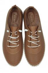 Fitbas 625040 162 Kadın Taba Deri Günlük Büyük Numara Ayakkabı - Thumbnail