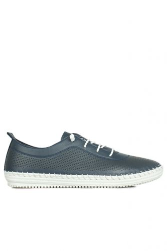 Fitbas - Fitbas 625040 419 Kadın Lacivert Deri Günlük Büyük Numara Ayakkabı (1)