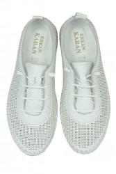 Erkan Kaban 625040 468 Kadın Beyaz Deri Günlük Büyük Numara Ayakkabı - Thumbnail