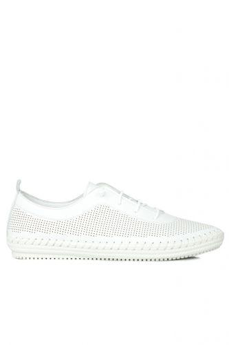 Fitbas - Fitbas 625040 468 Kadın Beyaz Deri Günlük Büyük Numara Ayakkabı (1)