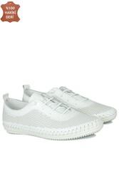 Fitbas 625040 468 Kadın Beyaz Deri Günlük Büyük Numara Ayakkabı - Thumbnail