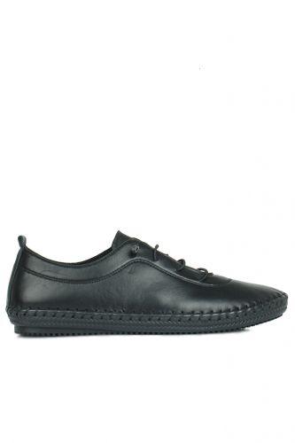 Fitbas - Fitbas 625041 014 Kadın Siyah Deri Günlük Büyük Numara Ayakkabı (1)