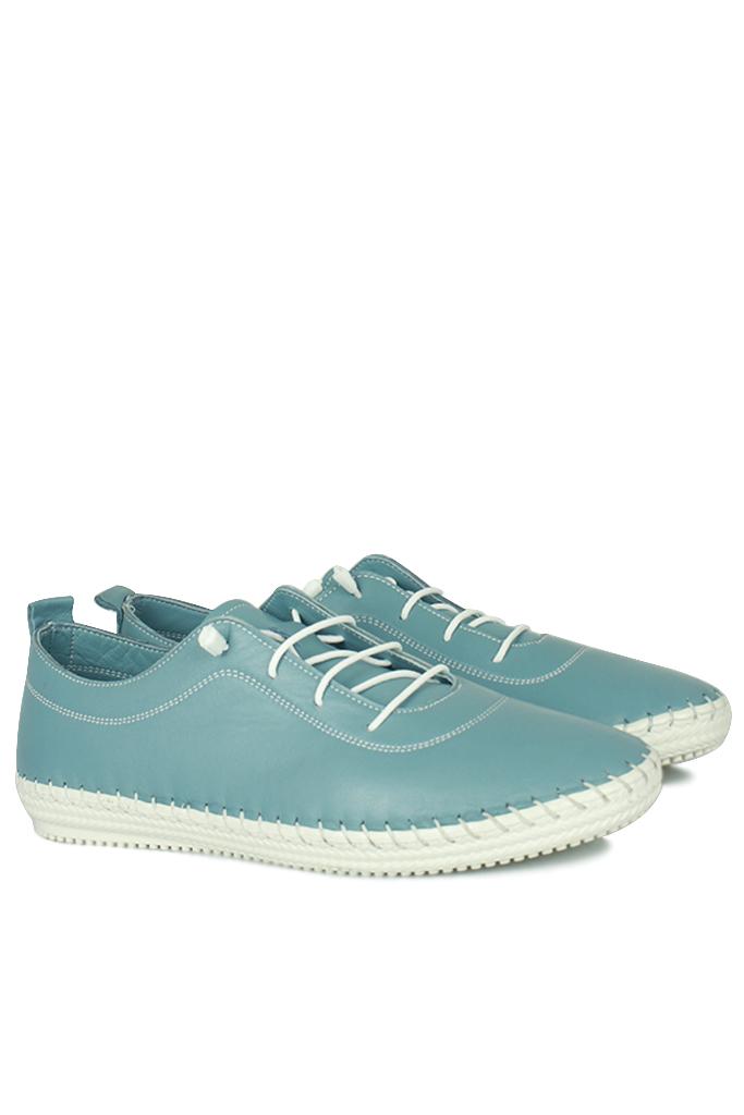 Erkan Kaban 625041 424 Kadın Mavi Deri Günlük Ayakkabı