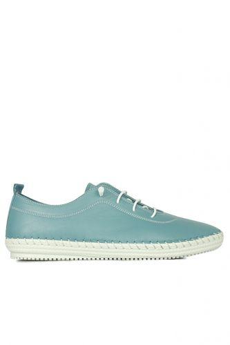 Fitbas - Fitbas 625041 424 Kadın Mavi Deri Günlük Büyük Numara Ayakkabı (1)