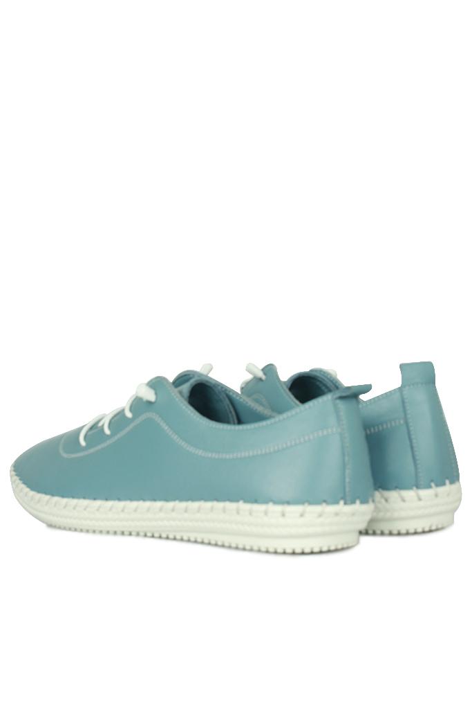 Fitbas 625041 424 Kadın Mavi Deri Günlük Büyük Numara Ayakkabı