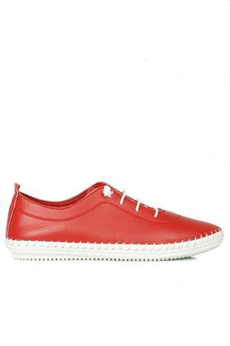 Fitbas - Fitbas 625041 524 Kadın Kırmızı Deri Günlük Büyük Numara Ayakkabı (1)