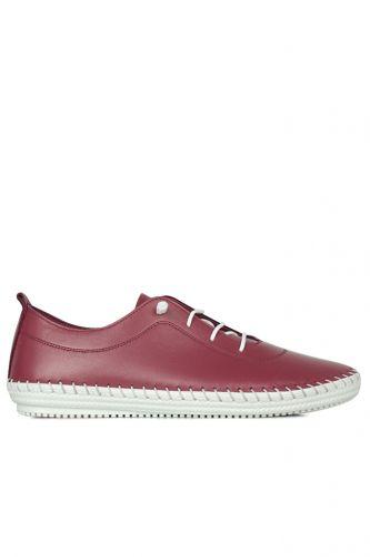 Fitbas - Fitbas 625041 624 Kadın Bordo Deri Günlük Büyük Numara Ayakkabı (1)