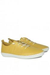 Erkan Kaban 625042 124 Kadın Sarı Deri Günlük Ayakkabı - Thumbnail