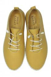 Fitbas 625042 124 Kadın Sarı Deri Günlük Büyük Numara Ayakkabı - Thumbnail