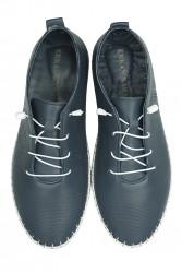 Erkan Kaban 625042 418 Kadın Lacivert Deri Günlük Ayakkabı - Thumbnail