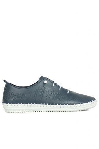 Fitbas - Fitbas 625042 418 Kadın Lacivert Deri Günlük Büyük Numara Ayakkabı (1)