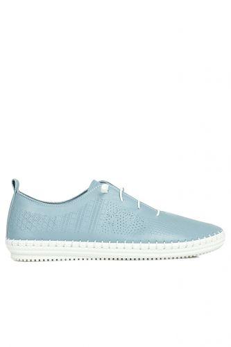 Fitbas - Fitbas 625042 424 Kadın Mavi Deri Günlük Büyük Numara Ayakkabı (1)