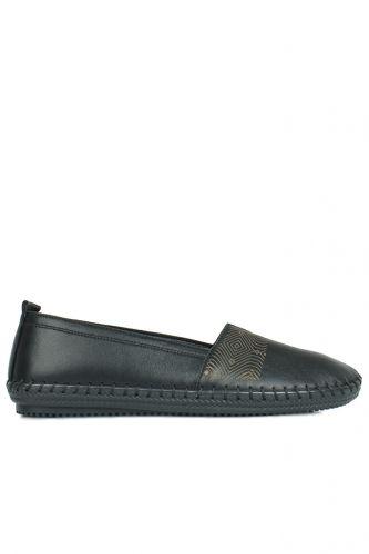 Fitbas - Fitbas 625043 014 Kadın Siyah Deri Günlük Büyük Numara Ayakkabı (1)