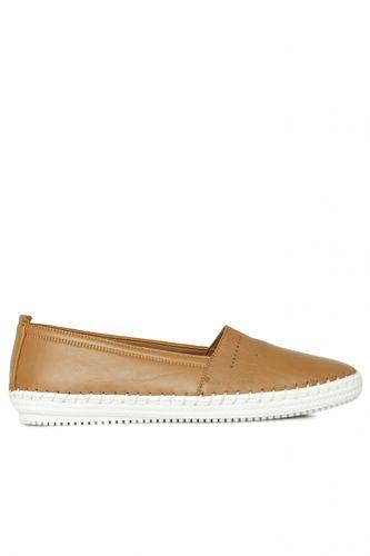 Fitbas - Fitbas 625043 167 Kadın Taba Deri Günlük Büyük Numara Ayakkabı (1)