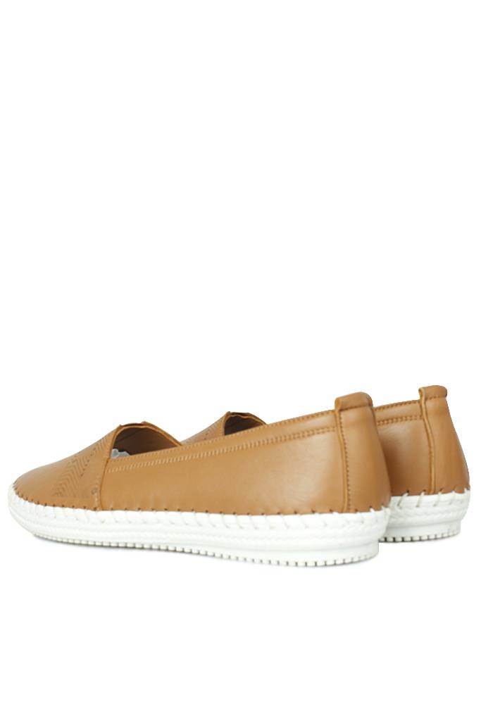 Fitbas 625043 167 Kadın Taba Deri Günlük Büyük Numara Ayakkabı