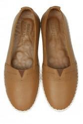 Fitbas 625043 167 Kadın Taba Deri Günlük Büyük Numara Ayakkabı - Thumbnail
