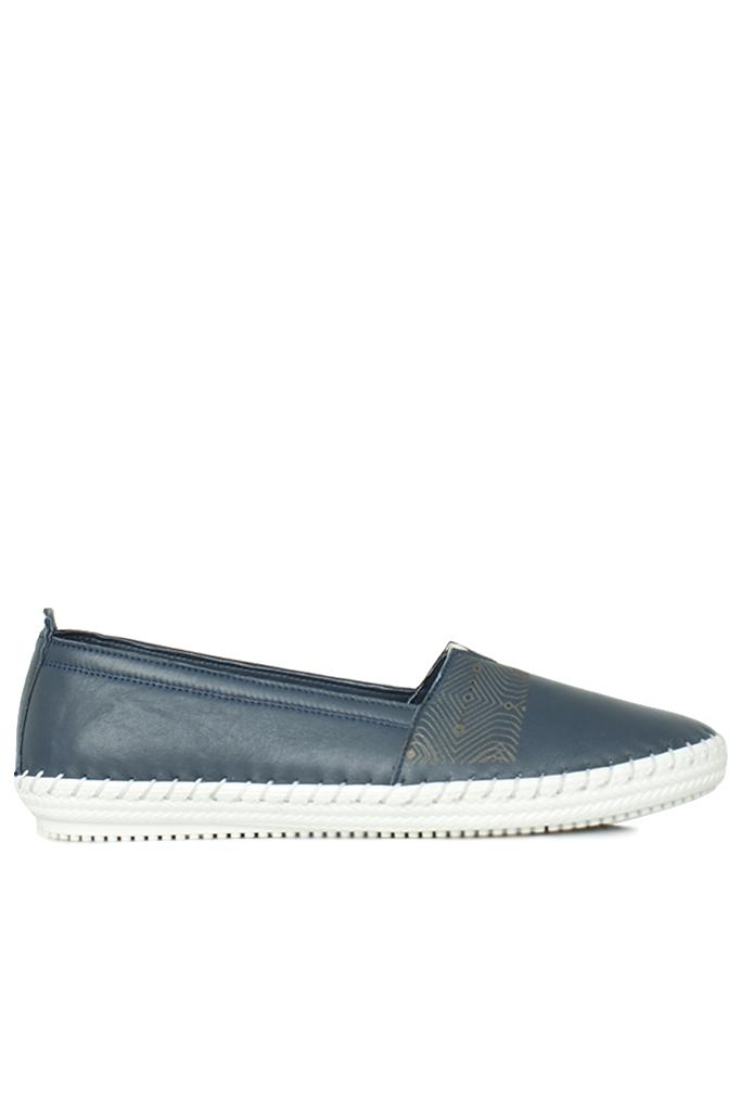 Erkan Kaban 625043 418 Kadın Lacivert Deri Günlük Ayakkabı