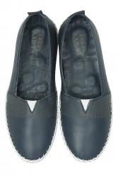 Erkan Kaban 625043 418 Kadın Lacivert Deri Günlük Ayakkabı - Thumbnail