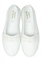 Erkan Kaban 625043 468 Kadın Beyaz Deri Günlük Ayakkabı - Thumbnail