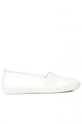Fitbas - Fitbas 625043 468 Kadın Beyaz Deri Günlük Büyük Numara Ayakkabı (1)