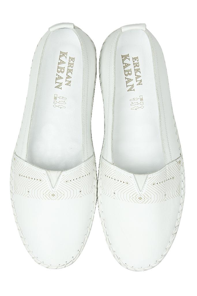 Fitbas 625043 468 Kadın Beyaz Deri Günlük Büyük Numara Ayakkabı