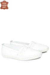 Fitbas 625043 468 Kadın Beyaz Deri Günlük Büyük Numara Ayakkabı - Thumbnail
