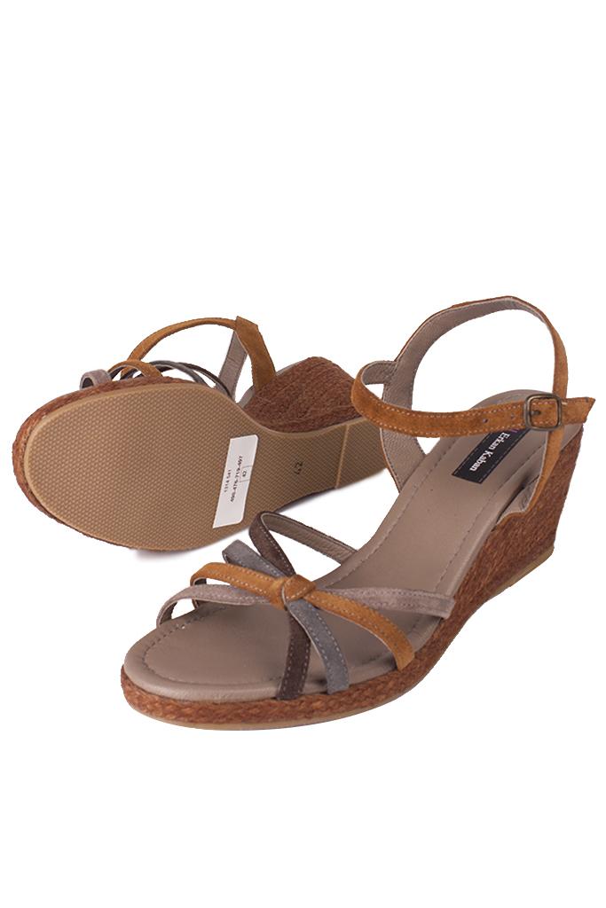 Fitbas 1314 167 Kadın Camel Süet Büyük & Küçük Numara Sandalet