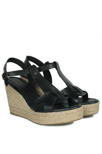 Fitbas - Fitbas 5027 014 Kadın Siyah Büyük & Küçük Numara Sandalet (1)