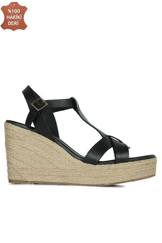 Fitbas 5027 014 Kadın Siyah Büyük & Küçük Numara Sandalet
