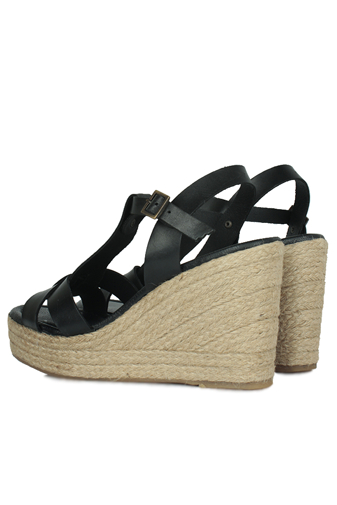 Erkan Kaban 5027 014 Kadın Siyah Sandalet Ayakkabı