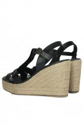 Erkan Kaban 5027 014 Kadın Siyah Sandalet Ayakkabı - Thumbnail