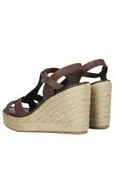 Fitbas 5027 232 Kadın Kahve Büyük & Küçük Numara Sandalet - Thumbnail