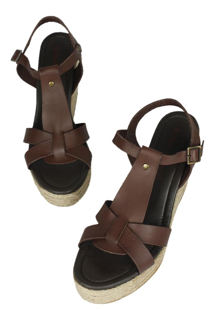 Fitbas 5027 232 Kadın Kahve Büyük & Küçük Numara Sandalet